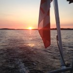 Incredible sunset last night on the Big Sound for our dinner cruise!
