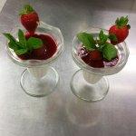 Panna cottage fraise