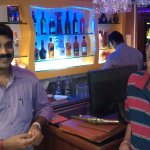 Vinayak - the person to the left - is the one who runs this place... and running it well!