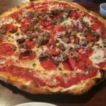 brick oven Meatza pizza