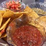 chips, salsa, pico