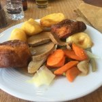 Roast beef sunday roast, very nice and filling and can have as many yorkshire pudding and roasti