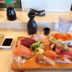 Deluxe Sushi Sashimi meal.  Always have an excellent meal.  Service could be better, always busy