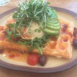 Savoury waffles are my favourite definitely recommend the hummus waffle!