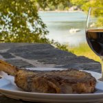It's hard to beat an excellent glass of wine, a delicious steak, & breathtaking views.