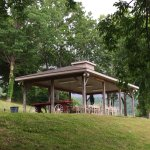 The picnic pavilion provides a place to relax and enjoy a meal with friends and family while ove