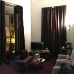 large size room nicely decorated. 2 balcony doors.