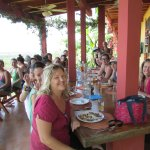 A full retreat enjoying lunch