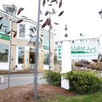 It is hard to miss Maine Art Paintings and Sculpture as you drive into Kennebunkport.
