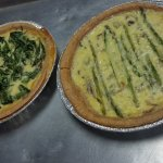 Quiche: Spinach and Mushroom or Asparagus and Bacon!!