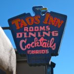 The Historic Taos Inn Iconic Thunderbird Neon Sign