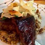 Steak, asparagus and quinoa
