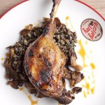 Goose Shank-Wild Rice-Honey-Pickled Red Cabbage