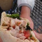 Fish burrito.