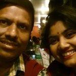An evening in Punjabi Kadhai, with my husband.