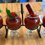Bloody Mary flight. Yum!