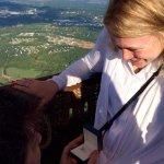 Hot air balloon ride from Keswick; I said yes!
