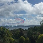 The View we had at the Templestowe of the Red Arrows