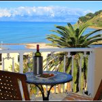 Enjoy a bottle of wine from your balcony