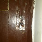 broken lock of room door.(room cannot be locked from inside!!)