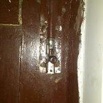 broken lock of room door.(room cannot be locked from inside!!)