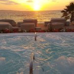 Sunset at the spa terrace