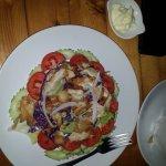 Салат из овощей, с куринной грудкой объедение!