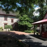 Little recreated Gas Station on the grounds with main house.