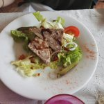 Salade terrine de fritons de canard