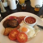 Full English breakfast at the Belmore