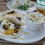 Our crab cakes and mahi tacos...mmmm