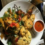 Beef & chicken skewers with couscous