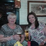 My wife and daughter relaxing in stags