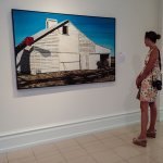Travel Writer Dana H Freeman enjoying the art at the museum