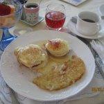 B & B eggs Benedict yum!