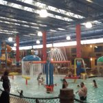 Covered section of the water park
