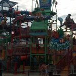 Outdoor section of the water park