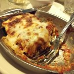 Lasagna, so good I forgot to take the picture before I ate it.