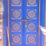Traditional painted door.