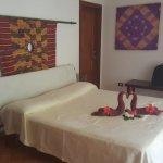 Eines der Schlafzimmer in der Villa Kamar