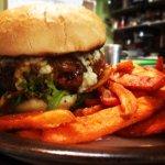 Nola's Burger and Sweet Potato Fries