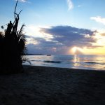Beachfront at sunset