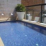 la piscina con hidromasaje