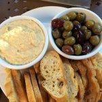 Hummus, Olives, and Crostini