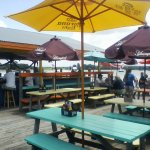Outside deck and bar area