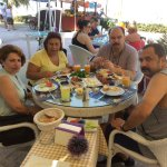 Our 1st morning in Kusadsi , Delicious Turkish breakfast at Plam Beach Resutrant !