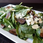 Spinach, Fig & Goat Cheese Salad