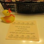 Little Rubber Duckie gift