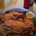Six large crabs