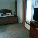 King size bed, dresser and TV